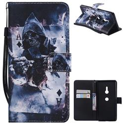 Skull Magician PU Leather Wallet Case for Sony Xperia XZ3