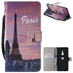 Paris Eiffel Tower PU Leather Wallet Case for Sony Xperia XZ3