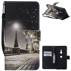 City Night View PU Leather Wallet Case for Sony Xperia XZ3