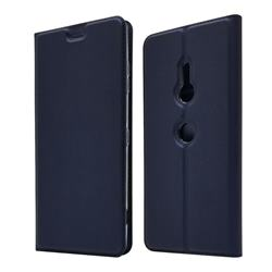 Ultra Slim Card Magnetic Automatic Suction Leather Wallet Case for Sony Xperia XZ3 - Royal Blue