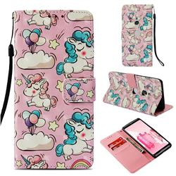 Angel Pony 3D Painted Leather Wallet Case for Sony Xperia XZ3