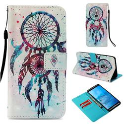 ColorDrops Wind Chimes 3D Painted Leather Wallet Case for Sony Xperia XZ3
