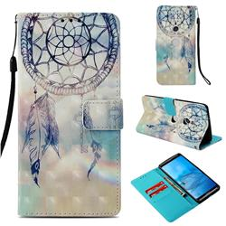 Fantasy Campanula 3D Painted Leather Wallet Case for Sony Xperia XZ3
