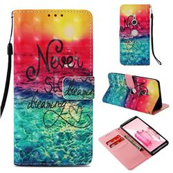 Colorful Dream Catcher 3D Painted Leather Wallet Case for Sony Xperia XZ3