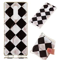 Black and White Matching Soft TPU Marble Pattern Phone Case for Sony Xperia XZ4