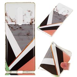 Pinstripe Soft TPU Marble Pattern Phone Case for Sony Xperia XZ4