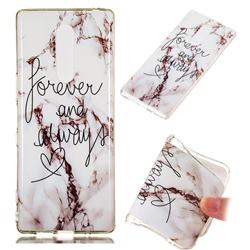Forever Soft TPU Marble Pattern Phone Case for Sony Xperia 1 / Xperia XZ4