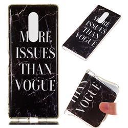 Stylish Black Soft TPU Marble Pattern Phone Case for Sony Xperia 1 / Xperia XZ4