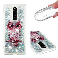 Seashell Owl Dynamic Liquid Glitter Quicksand Soft TPU Case for Sony Xperia 1 / Xperia XZ4