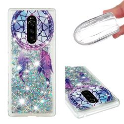 Fantasy Wind Chimes Dynamic Liquid Glitter Quicksand Soft TPU Case for Sony Xperia 1 / Xperia XZ4