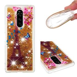 Golden Tower Dynamic Liquid Glitter Quicksand Soft TPU Case for Sony Xperia 1 / Xperia XZ4
