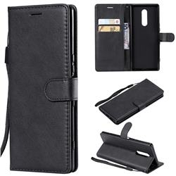 Retro Greek Classic Smooth PU Leather Wallet Phone Case for Sony Xperia XZ4 - Black