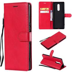 Retro Greek Classic Smooth PU Leather Wallet Phone Case for Sony Xperia XZ4 - Red
