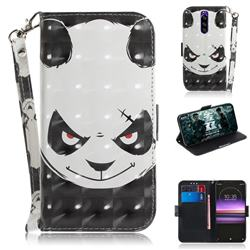 Angry Bear 3D Painted Leather Wallet Phone Case for Sony Xperia 1 / Xperia XZ4
