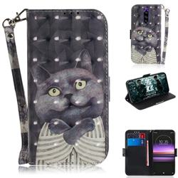 Cat Embrace 3D Painted Leather Wallet Phone Case for Sony Xperia 1 / Xperia XZ4