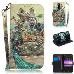Beast Zoo 3D Painted Leather Wallet Phone Case for Sony Xperia 1 / Xperia XZ4