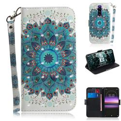 Peacock Mandala 3D Painted Leather Wallet Phone Case for Sony Xperia 1 / Xperia XZ4