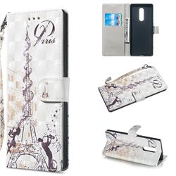 Tower Couple 3D Painted Leather Wallet Phone Case for Sony Xperia 1 / Xperia XZ4