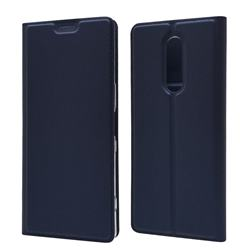 Ultra Slim Card Magnetic Automatic Suction Leather Wallet Case for Sony Xperia 1 / Xperia XZ4 - Royal Blue