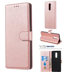 Retro Calf Matte Leather Wallet Phone Case for Sony Xperia 1 / Xperia XZ4 - Pink