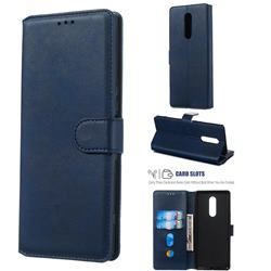 Retro Calf Matte Leather Wallet Phone Case for Sony Xperia 1 / Xperia XZ4 - Blue