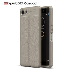 Luxury Auto Focus Litchi Texture Silicone TPU Back Cover for Sony Xperia XZ4 Compact - Gray