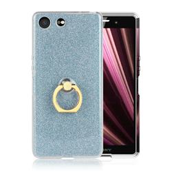 Luxury Soft TPU Glitter Back Ring Cover with 360 Rotate Finger Holder Buckle for Sony Xperia XZ4 Compact - Blue