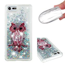 Seashell Owl Dynamic Liquid Glitter Quicksand Soft TPU Case for Sony Xperia XZ4 Compact