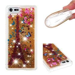 Golden Tower Dynamic Liquid Glitter Quicksand Soft TPU Case for Sony Xperia XZ4 Compact