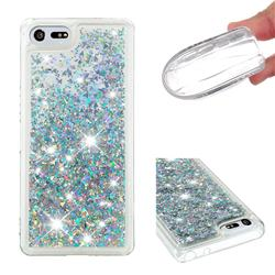 Dynamic Liquid Glitter Quicksand Sequins TPU Phone Case for Sony Xperia XZ4 Compact - Silver