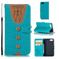 Ladies Bow Clothes Pattern Leather Wallet Phone Case for Sony Xperia XZ4 Compact - Green