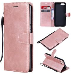 Retro Greek Classic Smooth PU Leather Wallet Phone Case for Sony Xperia XZ4 Compact - Rose Gold