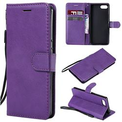 Retro Greek Classic Smooth PU Leather Wallet Phone Case for Sony Xperia XZ4 Compact - Purple