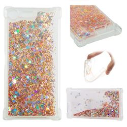 Dynamic Liquid Glitter Sand Quicksand Star TPU Case for Sony Xperia XZ Premium XZP - Diamond Gold