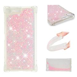 Dynamic Liquid Glitter Sand Quicksand TPU Case for Sony Xperia XZ Premium XZP - Silver Powder Star