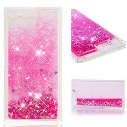 Dynamic Liquid Glitter Quicksand Sequins TPU Phone Case for Sony Xperia XZ Premium XZP - Rose