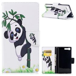 Bamboo Panda Leather Wallet Case for Sony Xperia XZ Premium XZP