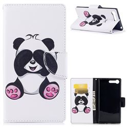 Lovely Panda Leather Wallet Case for Sony Xperia XZ Premium XZP