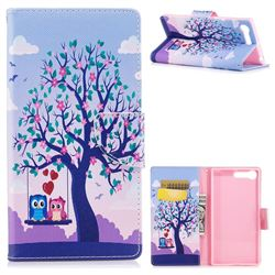 Tree and Owls Leather Wallet Case for Sony Xperia XZ Premium XZP