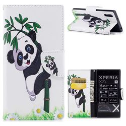 Bamboo Panda Leather Wallet Case for Sony Xperia XZs