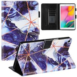 Starry Blue Stitching Color Marble Leather Flip Cover for Samsung Galaxy Tab A 8.0 (2019) T290 T295