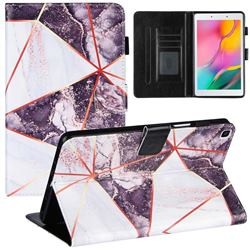 Black and White Stitching Color Marble Leather Flip Cover for Samsung Galaxy Tab A 8.0 (2019) T290 T295
