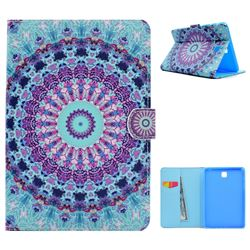 Mint Green Mandala Flower Folio Flip Stand Leather Wallet Case for Samsung Galaxy Tab A 8.0 T350 T355