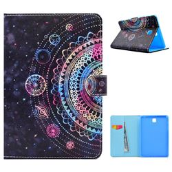 Universe Mandala Flower Folio Flip Stand Leather Wallet Case for Samsung Galaxy Tab A 8.0 T350 T355