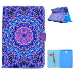 Purple Mandala Flower Folio Flip Stand Leather Wallet Case for Samsung Galaxy Tab A 8.0 T350 T355