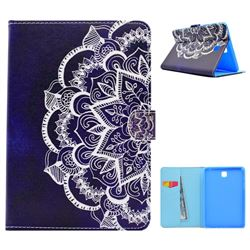 Half Lace Mandala Flower Folio Flip Stand Leather Wallet Case for Samsung Galaxy Tab A 8.0 T350 T355