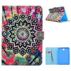Colorful Mandala Flower Folio Flip Stand Leather Wallet Case for Samsung Galaxy Tab A 8.0 T350 T355