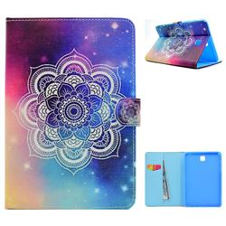 Sky Mandala Flower Folio Flip Stand Leather Wallet Case for Samsung Galaxy Tab A 8.0 T350 T355