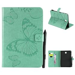 Embossing 3D Butterfly Leather Wallet Case for Samsung Galaxy Tab A 8.0 T350 T355 - Green