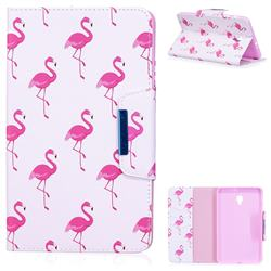 Red Flamingo Folio Flip Stand Leather Wallet Case for Samsung Galaxy Tab A 8.0 (2017) T380 T385 A2 S